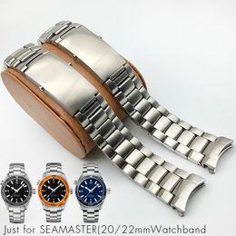 Ремешок для часов из нержавеющей стали Ремешок для часов из нержавеющей стали 20мм 22мм Пряжка для часов Браслет для часов Omega Ocean 300 Man 007 Ремешок для часов на Распродаже