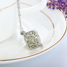 $enCountryForm.capitalKeyWord Australia - Brand new pendant necklaces Hollow Square Life Tree Night Light Phase Box Necklace model no. NE883
