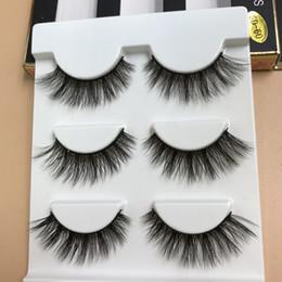 66f74976312 3 Pairs Mink 3D False Eyelashes Natural Long Crisscross Thick Messy  Eyelashes Winged Fake Eyelashes Fashion Beauty Makeup stage Lashes SD60