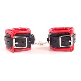 $enCountryForm.capitalKeyWord NZ - New arrival black with red sex binding Sponge Hand cuffs Ankle Cuffs bdsm bondage sex toys for couples adult games sex products