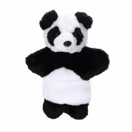 $enCountryForm.capitalKeyWord UK - Cute Plush Panda Hand Puppet Baby Sleep Story Accessory Hand Game Toy Lovely Panda Parent-Kids Interaction Doll Hand Puppet Toy