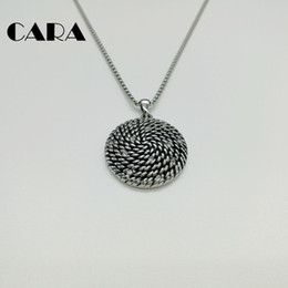 $enCountryForm.capitalKeyWord NZ - CARA New Stainless steel hip hop spiral rope pendant necklace women charm necklace with rhinestones wholesale jewelry necklace CARA0132