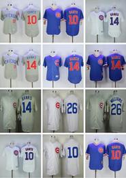 2017 flexbase stitched chicago cubs 10 ron santo 14 ernie bank white blue gray jersey mix