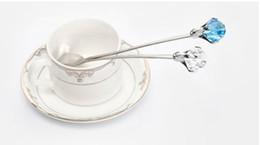 $enCountryForm.capitalKeyWord NZ - new crystal diamond stainless steel tea coffee ice cream sugar juice stirring spoon fruit fork dinnerware high grade food bar tools H55
