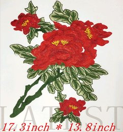 $enCountryForm.capitalKeyWord Canada - BIG Red Roses Flower Patches Embroidered Iron On Patch For Clothing Sticker Badge Paste For Clothes Bag Pants