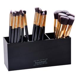 Box Jewelry Storage Organizer Black Canada - 1PC Acrylic Makeup Organizer Brush Mascara Lipstick Stand Case Jewelry Box Cosmetic Holder Storage Box 3 Lattices