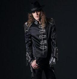 $enCountryForm.capitalKeyWord Canada - Diamond slim blazer men formal dress latest coat designs suit men costume homme singer dance suits for men's england black white