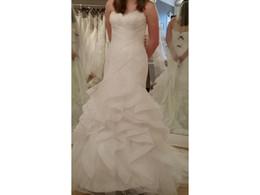 Gold Drop Waist Dress Canada - Mermaid Sweetheart Dropped Waist Feather Tulle Wedding Bridal Gown Dress Pleat Ruffles Beaded Sash COR-665 Casamento Robe De Marriage