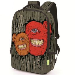 school picture UK - Treant backpack The Dryad monster daypack Picture schoolbag Casual rucksack Sport school bag Outdoor day pack
