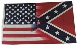 Chinese  50pcs 5X3FT American Flag with Confederate Rebel Civil War Flag new style hot sell 3x5 fr G139 manufacturers