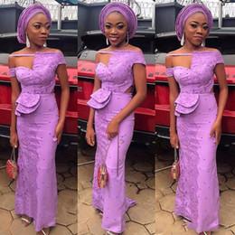 $enCountryForm.capitalKeyWord Australia - Light Purple African Prom Dresses Aso Ebi Style Lace Appliques Beaded Evening Floor Length Arabic Women Formal Party Vestidos Custom Made