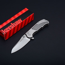 Discount oem box new - 2017 New OEM Kershaw 1558 Flipper Knives 8Cr13 Stone Washed Blade EDC Pocket Knife With Original Retail Box Package