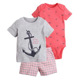 Chinese  Baby Boys Archor Clothing Sets T Shirt Rompers Tops Pants 0-2 Year Boutique Kids Clothes Short Sleeve Outfits manufacturers