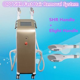 Barato E Remoção De Cabelo Da Máquina-ipl beauty equipment shr depilação SHR OPT IPL Machine E-light Rejuvenescimento da pele Acne Therapy Professional Fast Hair Removal
