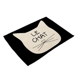 $enCountryForm.capitalKeyWord UK - Products Western Food Pad 42x32 cm Cartoon Cat Pattern Linen Insulation Wearable Pad Kitchen Accessories