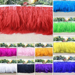 Turkey Clothing Canada - 2yard Turkey Feather Ostrich Feather Dance festival party hat boots Clothing wedding accessories decoration Ribbons