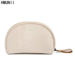 f34b5477f950 Wholesale- HMUNII Brand Small Capacity Travel Cosmetic Make up Bag Protable Makeup  Bag Purse Pouch Zipper Main Brand Beautician Clutch bags