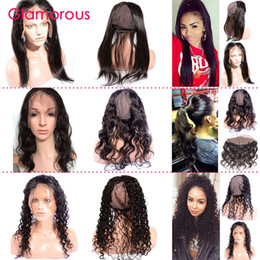 360 lace frontal with cap 2021 - Glamorous 360 Lace Frontal with Cap Brazilian Hair 360 Closure Body Wave Straight Human Hair Frontal 22x4x3