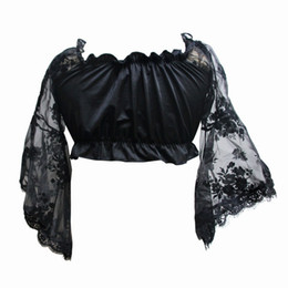 82a1a9d6a6f Black Corset Top Sleeves UK - 2017 New Fahion Women s Lolita Halloween Lace  Mesh Rose Floral