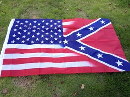 China 2017 NEW 90*150cm American Flag with Confederate Rebel Civil War Flag new style hot sell 3x5 Foot Flag suppliers