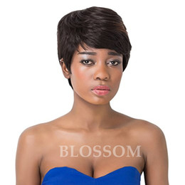 Discount hairstyle cuts for short hair 100% Unprocessed New Short Bob Wig Virgin Peruvian Short Bob Wig Human best hair pixie human cut hair wigs For Black Women