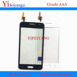 samsung digitizer NZ - 30pcs OEM 100% Test Touch Panel For Samsung Galaxy Core 2 B0511 G355H G355 G355F Touch Screen Digitizer Glass Panel by DHL EMS