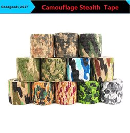 Hunting stickers online shopping - camouflage hunting tape COLORS cmx4 m Camo outdoor tools camouflage stealth tape durable waterproof curling bike stickers M301