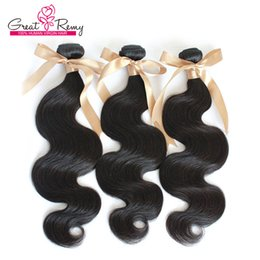 human hair weave remy queen 2019 - Queen Hair Products Brazilian Virgin Hair 3pcs lot Remy Human Hair Weave Wavy Body Wave Free Shipping Natural Color Dyea
