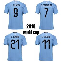5958d79fb1d Free Shipping newest URUGUAY 2018 top thai quality jersey World Cup SUAREZ Soccer  Jerseys D.GODIN E.CAVANI URUGUAY home 18 19 football shirt
