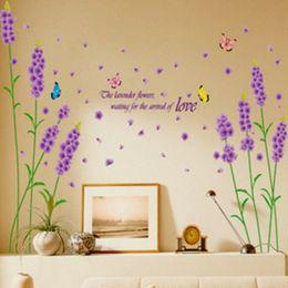 $enCountryForm.capitalKeyWord NZ - Children Wall Sticker Decoration Lavender Kids Boy Photo Wallpaper Home Art Room Decor Bedroom Hallway Mural PVC Girl Child