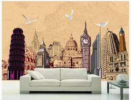 wall puzzle Australia - High end Custom 3d photo wallpaper murals wall paper World famous architectural hand painted puzzle wallpaper background wall home decor
