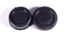 Chinese  Wholesale-1 Pairs camera Body cap + Rear Lens-Cap for N F-mount SLR DSLR Camera manufacturers