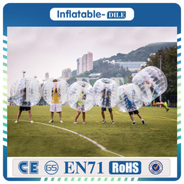 body bumpers inflatable UK - Free Shipping 1.5 PVC Lowest Price Quality Bubble Soccer ,Bumper Ball ,Body Zorb ,Human Hamster loopy Ball ,Bubble Football