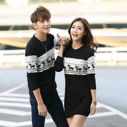 a84e54c5fa Couples Christmas Sweaters Canada - Brand Polo Ugly Sweater Men's Sweater  With Deer Winter Couple Matching