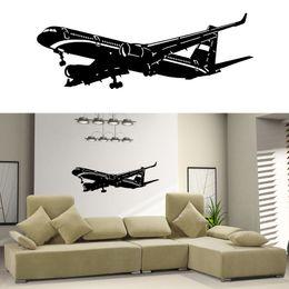 $enCountryForm.capitalKeyWord NZ - Hot Sale Home Decor Living Room Bedrommvinyl Wall Decal Sticker Plane Air Boing Airbus Aircraft Big Airplane Diy