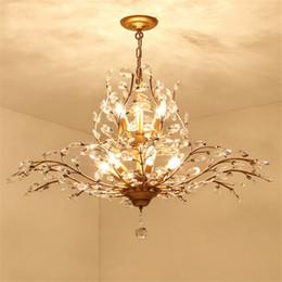 Modern Branch Pendant Lights Crystal Chandeliers Lamp LED Ceiling Light Chandelier Lighting Fixture Dining Room Living Bedroom