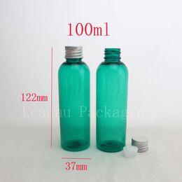 $enCountryForm.capitalKeyWord Canada - 100ml green water liquid medicine empty plastic bottle aluminum cap ,100cc shampoo travel bottles ,cosmetic packaging wholesale