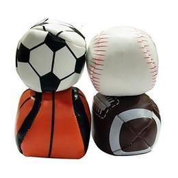Hacky Sack Balls Outdoor Sports Balls Set de 4 (fútbol, béisbol, baloncesto, fútbol) con bolsa de malla para almacenamiento Portable Follow-001