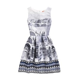 Outfit Mother Child Canada - Baby Kids children Clothing 2019 Family Matching Outfits family City print mother and daughter matching dresses girls dress clothes #5019