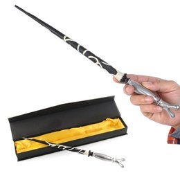 Discount wand toys - Wholesale-New Hot Cool Cosplay Hogwarts Horace Slughorn Wizard Magical Magic Wand with Box Wands Gift