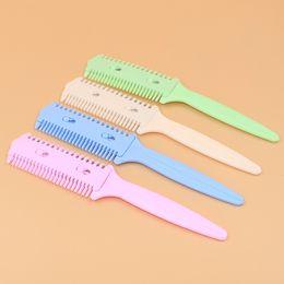 $enCountryForm.capitalKeyWord Canada - Double sided comb comb knife cut DIY flow sea word Cut thin knife broken hair Hairdressing tools wholesale