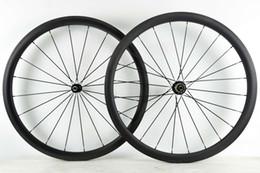 Carbon bike wheel powerway r36 online shopping - C mm depth road bike carbon wheelset mm width clincher carbon wheels with powerway R36 hub U shape rim