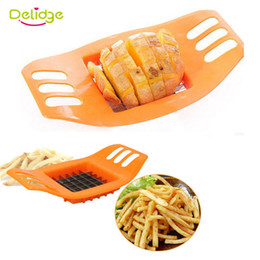 eco potato cutter Canada - Delidge 20 pc Potato Cutter Stainless Steel Vegetable Potato Slicer Cutter Potato Cutting Device Square Slicers Cut Fries Device