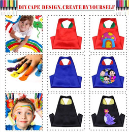 $enCountryForm.capitalKeyWord Canada - The Plain Color Cape For Kids DIY Printed Double Sides With 70*70cm Cape Graffiti for Fun Prefect for learning Children Costume Halloween