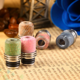 Best wood online shopping - Best Stable Wood SS Drip Tip Colorful Mouthpiece High quality Stable Wood Material for Electronic Cigarette Atomizer
