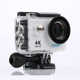 Action cAmerAs 4k online shopping - Original EKEN H9 Action camera Ultra HD K fps WiFi quot D underwater waterproof Helmet Cam camera Sport cam