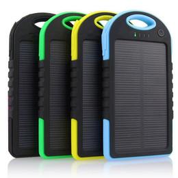 Toptan satış En iyi Çift USB 5000 mAh Su Geçirmez Güneş Enerjisi Bankası Taşınabilir Şarj iPhone Android telefon için Açık Seyahat Enternal Pil Powerbank