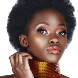 black hair perm curly 2019 - 8A Brazilian Kinky Curly Virgin Hair 4 pcs lot Afro Curl Human Hair Weave Natural Black Color Brazilian Curl Virgin Hair
