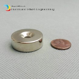 Rare Earth Neodymium Magnet Countersunk Hole Australia - 200pcs Countersunk Hole Magnet about Diameter 30X10mm Thick M5 Screw Countersunk Hole Neodymium Rare Earth Permanent Magnet