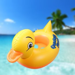 Barato Criança Inflável-Summer Swimming Kids Baby Inflável Pool Seat Float Boat Floating Raft Anel de natação Yellow Duck Children Toddler Aid Seat